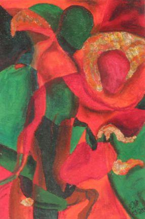 Komposition 4; Acryl