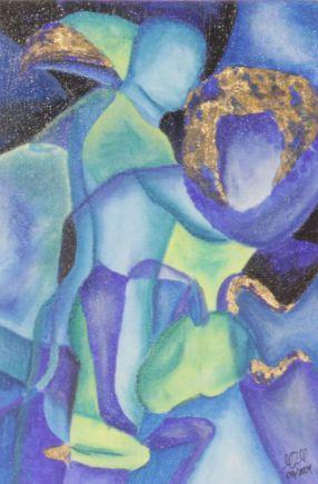 Komposition 3; Acryl