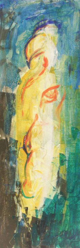 Viergetier Komposition2; Acryl