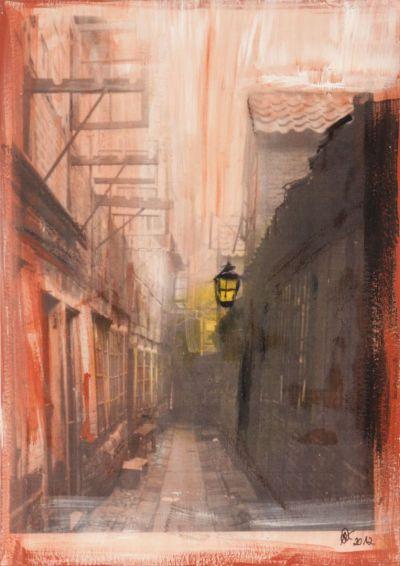 Gängeviertel 2; Collage in Acryl