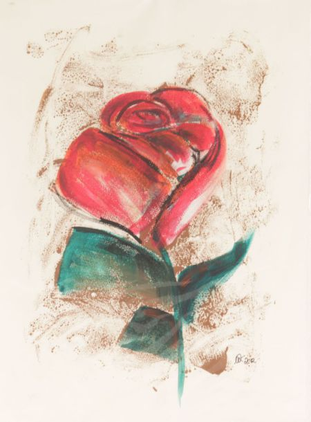 Druck Rose