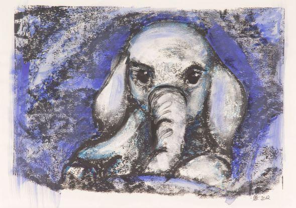 Druck Babyelefant
